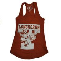 NCAA Texas Longhorns Racerback Burnt Orange Tank Top Women Ladies XXSmall XXS