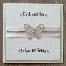 'Sister' Birthday Card, Handmade, Special Birthday, 3D Butterfly Layered Card