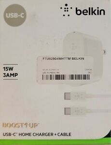 Belkin Boost Up USB-C Home Charger + Cable | 15W | 3AMP | White | 💎OPEN BOX💎