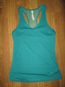 Womens UNDER ARMOUR HEAT GEAR athletic fitted tank top shirt   sz S Sm