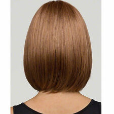 Women's New Natural Straight Bob Human Hair Full Lace Wigs Lace Front Medium Wig