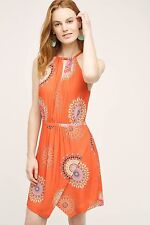 NWT $138 Anthropologie Livia Halter Dress Orange by Floreat - 12P Petite