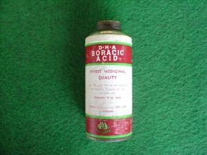 Vintage 50's DHA Boracic acid pack/grocery/packaging/chemist