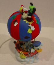 Collectible Walt Disney World Parks Goofy Mickey Donald Ceramic Light in Boat
