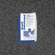 (0,48€/1kg) 25 kg Sack Basalt Einkehrsand Anthrazit 0,02-2,2 mm Fugen Sand