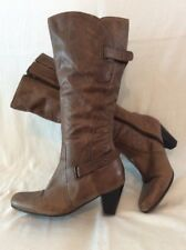 Emotion Brown Knee High Leather Boots Size 6