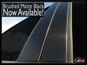 Matte Black PILLAR POST TRIM SET Custom Fit Brushed Aluminum Window Accents QAA