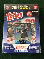 Topps 2011 Football 11 Packs Value Box Sealed Cam Newton TMB-1 Refractor Rookie