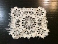 Vintage Doilie Hand Made Doily Crochet Table Lace Dresser Scarf Staging 035