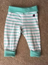 Stripy Turquiose Mint Green Polarn O Pyret P.O.P Trousers Leggings 2-4 Months