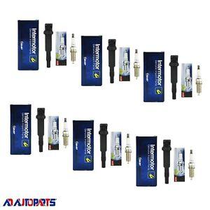 6 Standard Motor Coils + 6 Denso Platinum Spark Plugs For BMW 128i, 328i, 530i