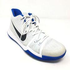 04c3d18d347 Men s Nike Kyrie 3 Basketball Shoes Sneaker Size 9.5M White Royal Blue Duke  AC1