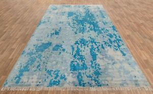 10x14 Handknotted Abstract Rug Modern Rug Wool & Silk Rug Free Shipping!!! #8049