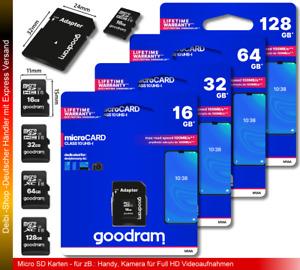 8GB 16GB 32GB 64GB 128GB Micro SD Karte SDHC SDXC Speicherkarte 100MB/s CLASS 10