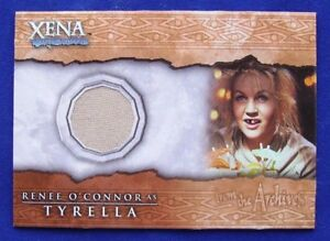 Xena Beauty and Brawn Renee O'Connor as Tyrella Costume Card C4 Cream