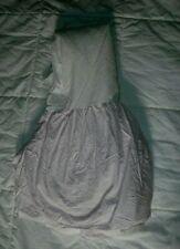 Custom Made Pink White Polka Dot Cotton Full Double Bed Skirt Dust Ruffle 54x79