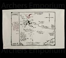 Thorin's Map Cotton Tea Towel, Official. Hobbit, LotR. Weta Collectibles. New