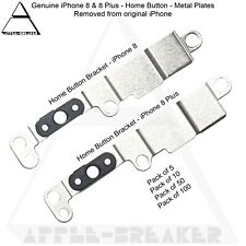 iPhone 8 & 8 Plus Home Button Metal Plates Brackets And Screws Genuine Lot