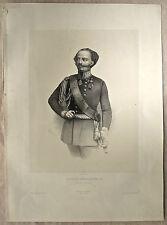 Lithographie, Victor Emmanuel II, XIXème, J-B-A. Lafosse