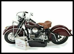Vintage Franklin Mint 1942 Indian Motorcycle 442 1:10 Scale NIB W/COA