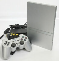 PS2 Slim Console System SCPH-79000 Satin Silver Playstation 2 NTSC-J HJ0656595