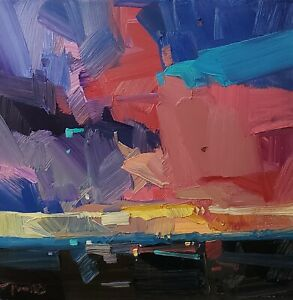 JOSE TRUJILLO Oil Painting IMPRESSIONISM CONTEMPORARY LANDSCAPE SUNSET MODERN