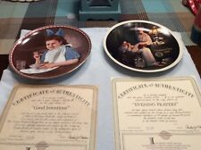 Lot Of 2 Norman Rockwell Collector Plates