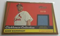 2016 Topps Heritage Adam Wainwright Gold Clubhouse Collection Jersey S# /99