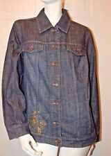 Coldwater Creek Beaded Denim Jacket Sz 18W Ret $159.95