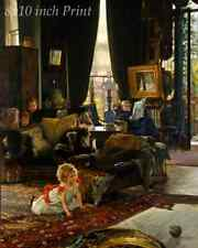 Hide and Seek by James Tissot - Children Playing Game 8x10 Print Picture 1830