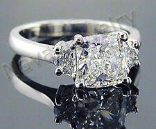 3.01 Ct. Cushion Cut Diamond Engagement Ring