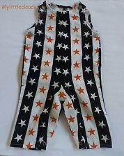 Agnès B***Salopette Mixte 6 mois Noir Blanche Orange étoiles Vintage