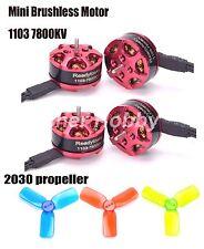 4x 1103 7800kv Mini Brushless Motor + 3030 Prop F RC 80 90 100 Multirotor Drone