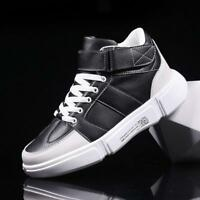 dcb379d21a new Men s lace up Casual High Top Athletic Sports Hip-hop Skateboard Shoes