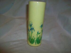 McCoy Pottery Yellow Blue Iris Bud Vase #676
