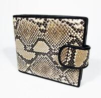 New Natural Genuine Leather Python Snake Skin Women Bi-fold Wallet Purse.