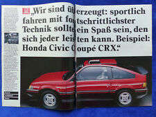 Honda Civic Coupe CRX - Werbeanzeige Reklame Advertisement 1984 __ (359