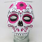 Halloween Mask Costume Sugar Skull Pink Day of the Dead Masquerade Elastic