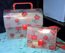 CAMPBELL'S SOUP ~ CLEAR ~ LUNCH BOX & SMALL PURSE SET ~ 1995