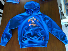 New York Mets Majestic Therma Base Pullover Hoodie Sweater Blue Youth M Medium
