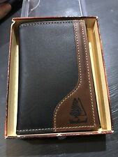 Vintage Heritage Leathers Woodland Trifold Wallet NOS 1993 🌲 Fir Tree