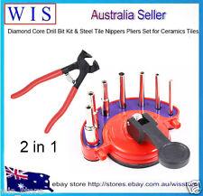 2 in 1 Diamond Core Drill Bit Kit & Steel Tile Nippers Pliers for Ceramic Tiles