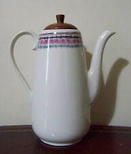 Peter Terris Original Bali Coffee Pot Server & Walnut Lid Shenango Vintage