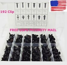 192 Clip Automotive Push Pin Retainer Assortment Kit For Toyota Honda GM Ford US
