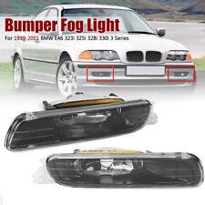 Pair Front Bumper Fog Light For 1999-2001 BMW E46 323i 325i 328i 330i 3 Series