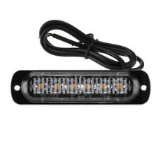 Universal Yellow Amber 6LED Emergency Marker Flash Strobe Lights For Car truck