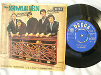 ZOMBIES EP SELF TITLED DFE DECCA 8598 MONO plays awesome 45rpm
