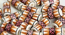 TUBO geometrica Smaltata Perline per Capelli Perline o Artigianato V024cb x 10 Beads