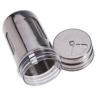 Stainless Steel Spice Shaker Jar Sugar Pepper Herb Toothpick Storage Bottle WS