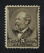 CKStamps: US Stamps Collection Scott#205 5c Garfield Unused H Regum Spot Thin